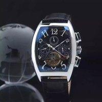 Wholesale Factory Seller Brand AETERNITAS MEGA Top F Brand Watch Wriswatche Mens Genuine Leather Men Watches Automatic Reloj Rectangular Hombre Clock