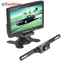 "Cheap 7"" Color TFT LCD Car Reaview Monitor With 420TVL CMOS Car Rear View Reverse Camera Wireless Parking Kit System"