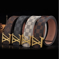 fashion belts - 2015 new grid belt man leather Han edition of joker leisure belt young fashion belts good quality