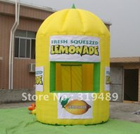 best banner advertising - best selling inflatable advertising lemonade booth with digital printing banners free CE UL air blower carry bag