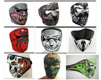 Wholesale 9 Styles Desinged Skull Face Mask Men Man Mens Neoprene Motorcycle Bike Cycling Party Face Mask Lightweight Stretch Winter Facemask Masks