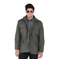 green army men - Promotion Alpha M65 Military Jacket Army Mens Clothing M Military Field Jacket For Sale Men Black olive Green Color