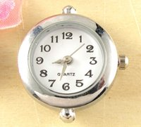 Wholesale p New Arrive Fashionable Quartz Silver Tone Round Watch Faces For Beading w17
