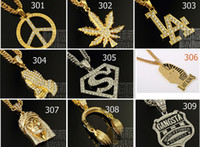 hip hop jewelry - Hip hop long necklace K gold plated High quality crystal jesus piece pendant Fashion Jewelry for women men mixed styles