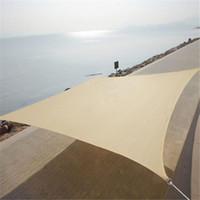 Wholesale Perfect Sun Shade Sail UV Blocked Size M M Rectangle Sun Shade Sail Breathable Square Sun Shade Sail