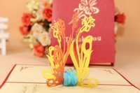 thank you cards - 3D Greeting Card Vintage Handmade Creative Kirigami Origami D Pop UP Gift Cards Thank You Cards