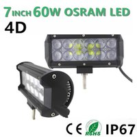 Wholesale 7Inch OSRAM W Flood Beam Off Road D LED Work Light Bar V V for SUV ATV UTV Wagon WD X4 Led Offroad Light Bar fog light