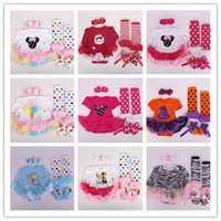 baby sock cake - Tulle Bowknot Lace Dot Tutu Butterfly Cakes Minnie Frozen Christmas Halloween Headband Dress Rompers Socks Shoes Baby Sets Outfit C0012