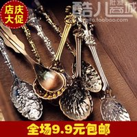 american iced tea - E9081 Queer jewelry original European and American style retro palace tea ice cream spoon coffee spoon
