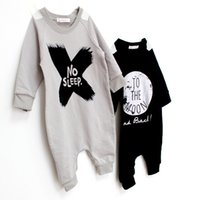 Wholesale Baby Boys Girls Rompers Bodysuits New Autumn NO SLEEP Outfits Infant Children Toddler Long Sleeve Overalls Jumpsuits Clothing