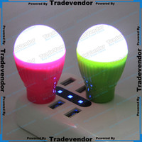best nightlight - Christmas Gift Best V W USB LED Bulb Lamp Nightlight LED Light Lamp Room Light with USB Interface For Outdoor Travel Camping Computer