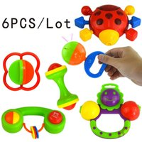 Wholesale New Lovely Plastic Baby Toys Hand Shake Bell Ring Rattles toys Baby Educational Toys