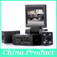 Coche libre DVR H3000 de las cajas negras del coche de DHL lente dual, 270 grados cámara giratoria del coche de la lente 010224