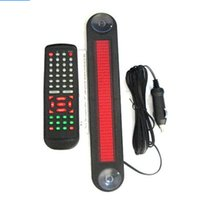 Wholesale High quality cm V Car Auto Red LED Programmable Message Sign Scrolling Moving Display Board with remote characters order lt no
