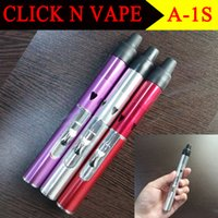 Wholesale A A2S Colors Click N Vape smoking pipe Mini Herbal Vaporizer Trouch Flame Lighter with built in Wind Proof Torch Lighters Hookah