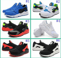 Cheap New With Original Box 2015 New Air Huarache Mens Sneakers Black White Sneakers Lightweight Running Shoe Huaraches Size 40-46