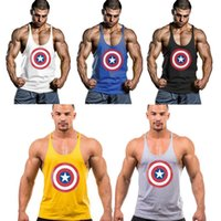 100% Cotton best tank tops for men - Cotton Gym Vest Loose Sports Training Vest for Muscle Men Top Cheap Sleeveless Boys Tanks Best Summer Gym Body Building Tanks L