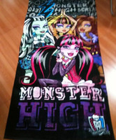 Wholesale Monster high bath towel style cotton towels bathroom children beach towel kids bath towel