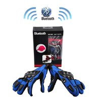 Wholesale Bluetooth Cycling Gloves Smart Gloves Full Finger Novelty Sports Gloves Voice Call Phone Gloves with Speaker RED BLUE BLACK