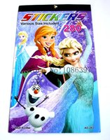 animal coloring sheet - lovely Elsa and Anna logo Cartoon Stickers for Children Coloring Books kid gift sheet