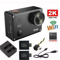 Wholesale Gitup Git2 Novatek P WiFi K Outdoor Sports Action Camera Extra mAh Battery Dual Charger FPV Cable