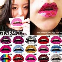 temporary lip tattoos - Hot Sexy Lip Sticker Temporary Waterproof Lipstick Paste Performance Tattoo Night Club Lip Sticker High Quality H147