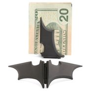 Wholesale Man Stainless Steel Batman quot Batarang quot Money Clip DHL