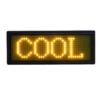 led display board - LED Display Board LED Message Board Yellow Character LED Name Badge Acrylic And LED Materials With Rechargeable Mah Battery B1236TY