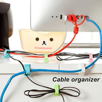Wholesale 16 Cable organizer Widely used cable management for computer hub cord Holder for wires winder Novelty household
