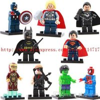 Wholesale super hero Figures The Avengers building blocks sets Minifigures Bricks classic toys Compatible
