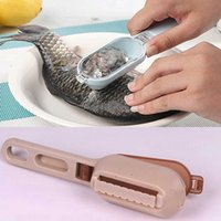 Wholesale Practical Fish Scale Scraper Remover Fast Cleaning Fish Skin Brush Remover Peeler Kitchen Helper futuristic Cosy Scaler Kitchen Clean Tool