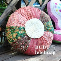 cushion fat pad - Handmade Quilt Happiness Large Round Buns Fat Pad Futon Cushion Wild Pillow
