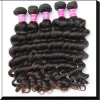 1 18 - Natural Color Hair Weft Peruvian Virgin Hiar Natural Wave Hot Length Bundle DHL
