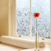 Wholesale Non adhesive Frosted Window Film Static Cling Privacy Window Cover Sticker for Bthroom Office Shop Wondow Decoration H16089