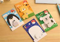 Wholesale cute note pad sticky notes notebook stickers kawaii paper mini notepad animal shape korean stationery for kids children students adult