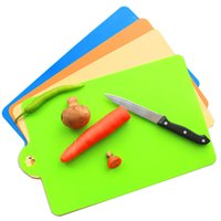 Wholesale 2016 New Kitchen Chopping block Different Use Flexible Plastic Cutting Board Antibiotic Resistant Portable Chopping Board