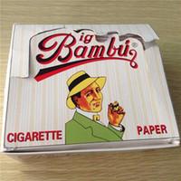 Cheap Big Bambu Cigarette Rolling Papers Cigarette Paper 96mm *66mm Smoking Paper Wrapping Paper Big Size Cigarette Paper Bambu Factory Direct