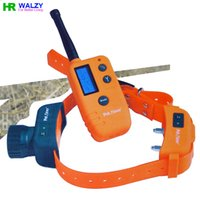 Wholesale Waterproof and Rechargeable LCD Display Pet Dog Remote Training Collar WALZY Remote Training and Beeper Collar