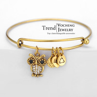 animal cuff bracelets - Metal Alloy Gold Silver Plated Owl Charms Pulseras Alex and Ani Expandable Cuff Bangle VG Vocheng Jewelry