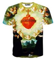 avatar short sleeve - Hot sale fashion Retro t shirt Print Avatar tshirt D sports Bundled heart Jesus women men ladies t shirt clothing