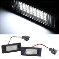 audi tt tail lights - 2pcs White LED SMD License Plate Light Connectors For Audi TT Q5 A4 A5 S5 B8 For VW Passat V order lt no track