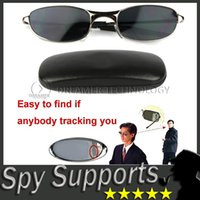 Mirror - DHL FREE Anti Track UV Protection Anti Tracking Device Anti UV Spy Sunglasses with Protective Case Rearview Mirror Glasses