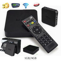 Wholesale MXQ Android TV Boxes Quad Core Amlogic S805 MXQ Media Player With XBMC KODI Fully Loaded Update Smart MXQ TV Box Pre installed APK ADD