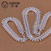 Wholesale Christmas gift Sterling Silver necklace bracelet set S042 bulk sale cheap bridal party jewelry sets