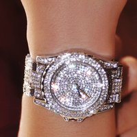 Wholesale Christmas Gift Hot Sales Luxury Crystal Women Bracelet Female Diamond Dress Watch Ladies Fashion Sparkling Shining Rhinestone Wristwatches