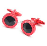 Wholesale New Men Jewelry red color copper casual cuff links shiny high end quality jewelry turkey copper body jewelry