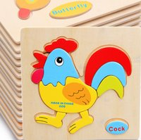 Wholesale Baby Children Educational Wooden Toys Puzzle Kids cm brinquedos educativos toy Puzzles for children T1084