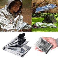 Wholesale Free DHL Silvery Outdoor Travel Waterproof Emergency Survival Foil Thermal First Aid Rescue Blanket x cm