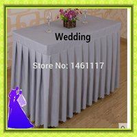 Wholesale new arrival rectangle polyester table skirt for wedding