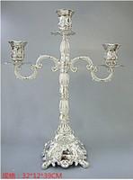 Wholesale 39cm branch silver candelabra candlesticks candelabrum metal candle holder set wedding decoration wedding candelabra ZT067